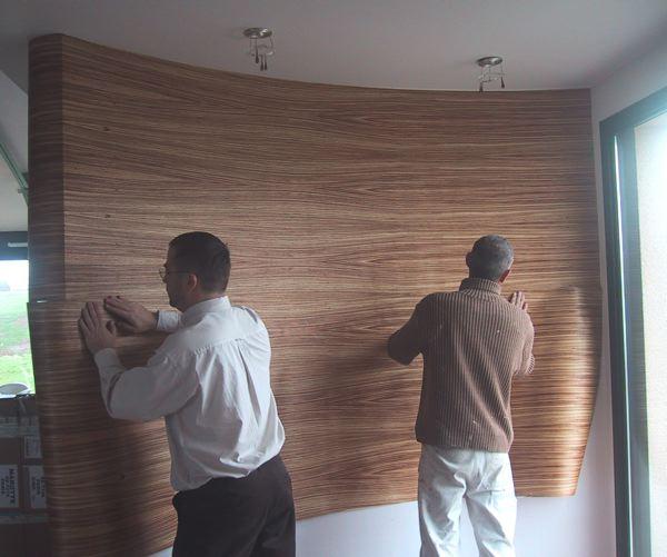 Le bois à maroufler  Atrium Construction ~ Placage Bois Mur