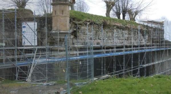 restauration du Bastion des Noyers des Remparts