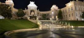 marseille--les-espaces-extérieurs-du-palais-longchamp-restaurés
