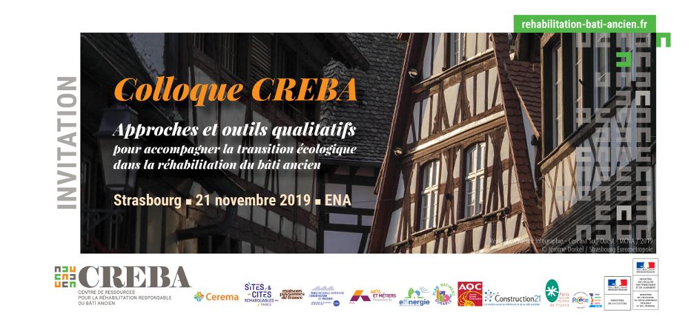 Le colloque annuel CREBA : Le 21 novembre à Strasbourg